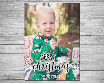 Holiday Photo Card, Christmas Photo Card, Printable Holiday Photo Card, Printable Christmas Photo Card, Merry Christmas