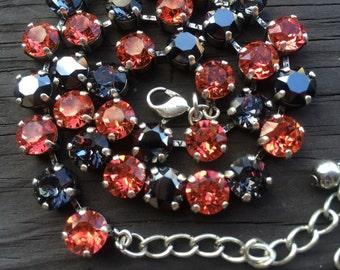Swarovski crystal necklace Halloween inspired