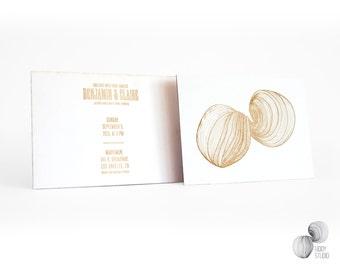 Both sides laser engraved wedding invitation