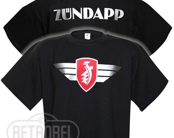 T-shirt ZUNDAPP motorcycles, Black, Classic Vintage Motorcycle, 100% Cotton, Graphic Tee,