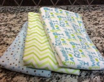 Handmade Gerber Diaper Burp Cloth Set – Super Soft and Absorbent