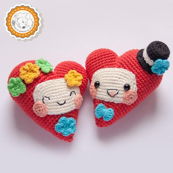 Amigurumi Heart Crochet Pattern : PATTERN Fanny Hearts crochet pattern amigurumi pattern