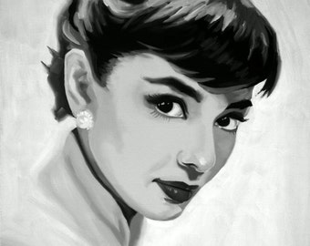 Audrey Hepburn Fine Art Print (Audrey Hepburn - My Fair Lady - Breakfast at Tiffany's - Golden Age of Hollywood - Style - Icons)