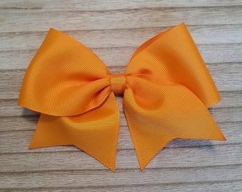 Large Tangerine Traditional Hair Bow