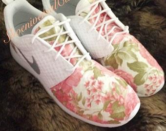 Custom floral womens Roshe Runs!