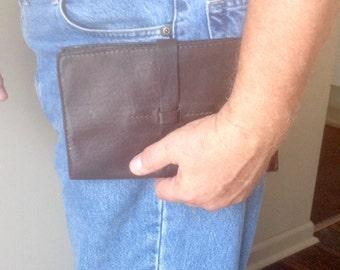 The Harley, Brown Horween Essex Leather Travel Portfolio, Medium