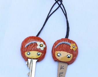 Key Cover, key case, key holding, doll clay, clay handmade, clay art, clay key cover