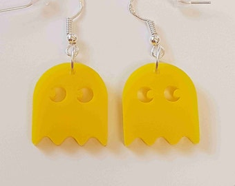 Pacman Ghost Earrings - Acrylic