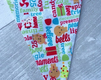 Christmas Bunting, Children, Kids, Traditional Colours