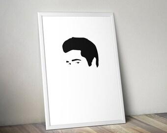 Elvis Presley Minimal Style