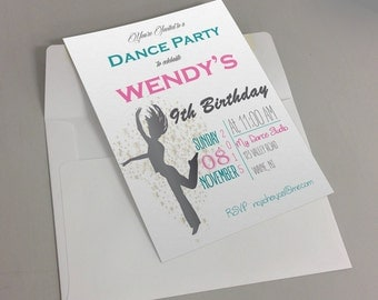 Printable Dance Party Invitation - Personalized