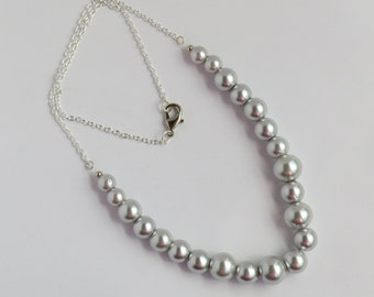 Gray Colored Pearl Necklace