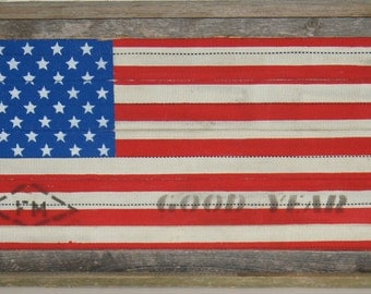 Vintage Fire Hose American Flag*