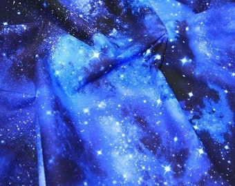 Galaxy fabric etsy for Timeless treasures galaxy fabric