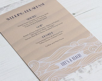Life's a Beach! Menu Card