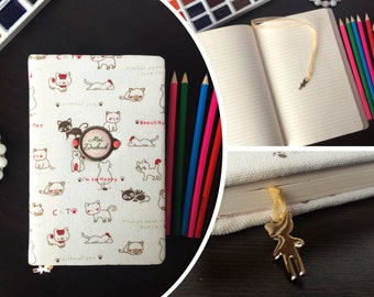 """Handmade journal for diary """"Happy cats"""""""