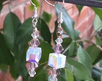 Pale Rose Victorian Earrings