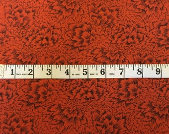 Jinny Beyer: Rare, Out of Print Blender Palette Quilt Fabric in Burnt Orange and Black