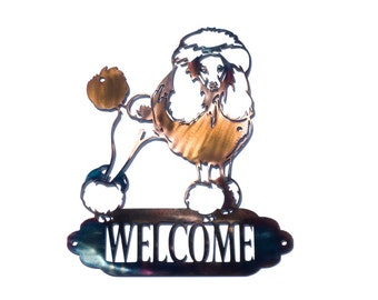 Elegant Poodle Welcome Sign - CAN BE CUSTOMIZED!