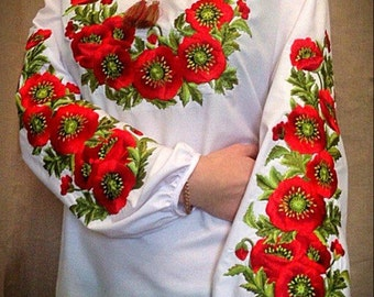 ukrainian embroidered blouse vyshyvanka ethnic national shirt sorochka women