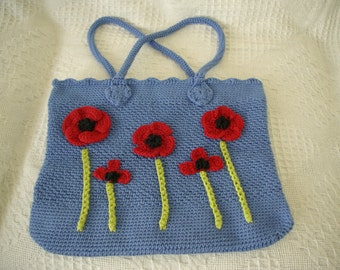 Blue flower handbag