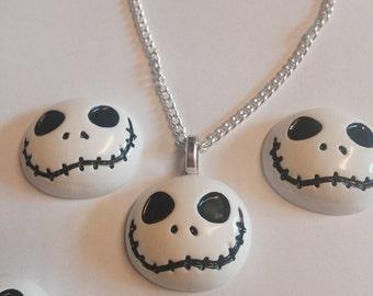 Jack skeleton inspired halloween necklace