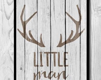 Little Man Printable Art, Little Man Wall Art, Boys Rustic Nursery, Boys Rustic Room Decor, Boys Room Wall Art, Rustic Baby Shower Decor