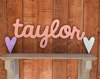 Taylor Custom Wooden Name Sign - Nursery - Baby Name - Wedding - Shower Gift - Baby Name Sign, Kid's room decor, Nursery Nesting