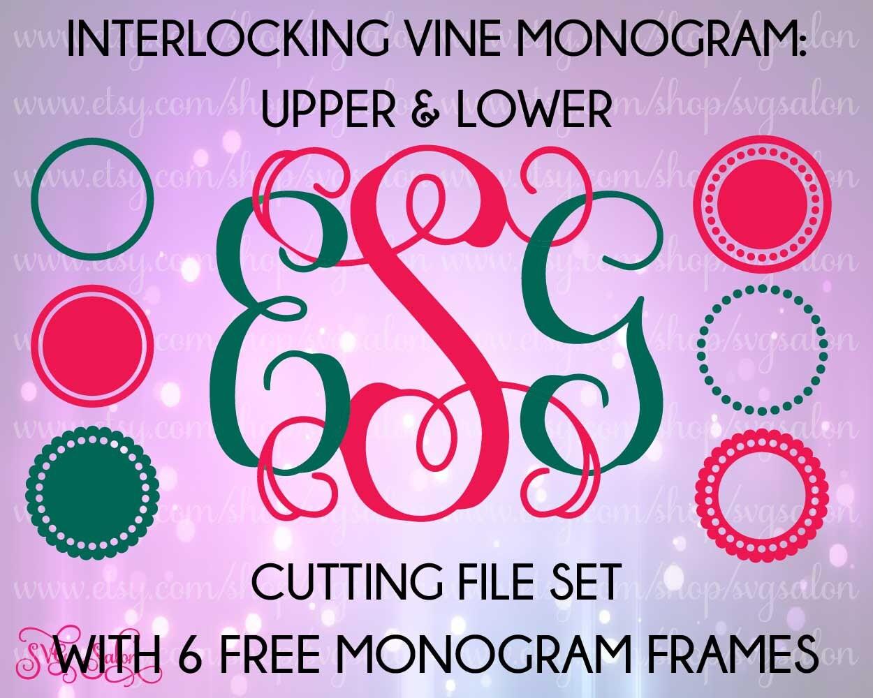 Interlocking Vine Svg Monogram Cuttable Font 2017 2018