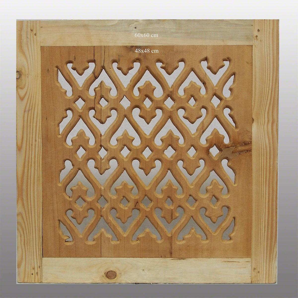 60x60 cm orient holz fenster gitter ziergitter islamic wooden for Fenster 60x60