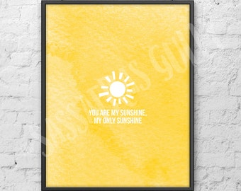 """You Are My Sunshine 8x10"""" Digital Download Wall Art"""
