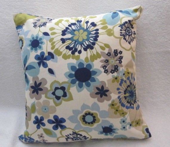 contemporary floral print pillow cover