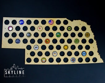 Beer Cap Map USA US Beer Bottle Cap Map Craft Beer Map Cap - Us beer cap map