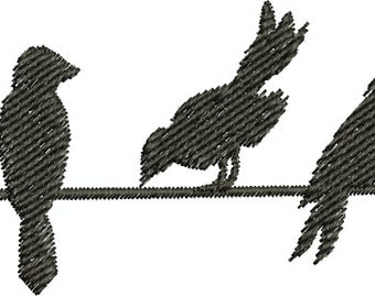 Birds on a wire - Digital Embroidery Design