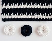 Handmade 100% Cotton Washcloth / Monochrome Washcloth / Facecloth / Face Scrubs
