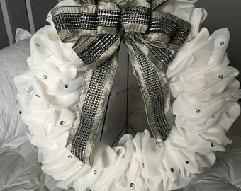 Silver and White Bling