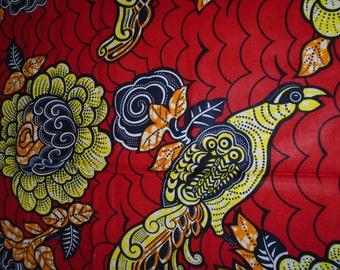Cotton Wax Print Fabric - 1/2 Yard Cut