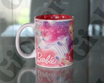 glass mug barbie