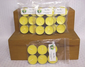 6 Pack - Sun Ray Scented Soy Tea Light Candles