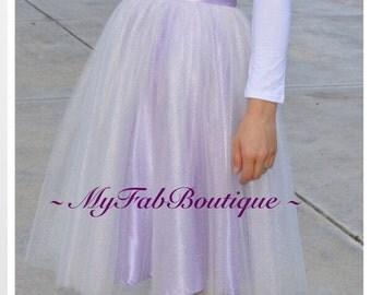 Adult Tulle Skirt,Shiny Nylon Tulle Fabric,Blush tulle skirt,tulle skirt, Wedding tulle skirt,