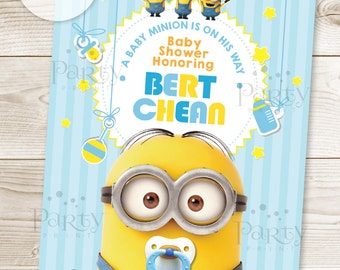 Minions Baby Shower Invitation  (Digital Copy)