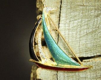 Sail Boat Brooch #5422