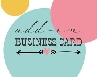 business card add-on, custom business card, premade logo design add-on