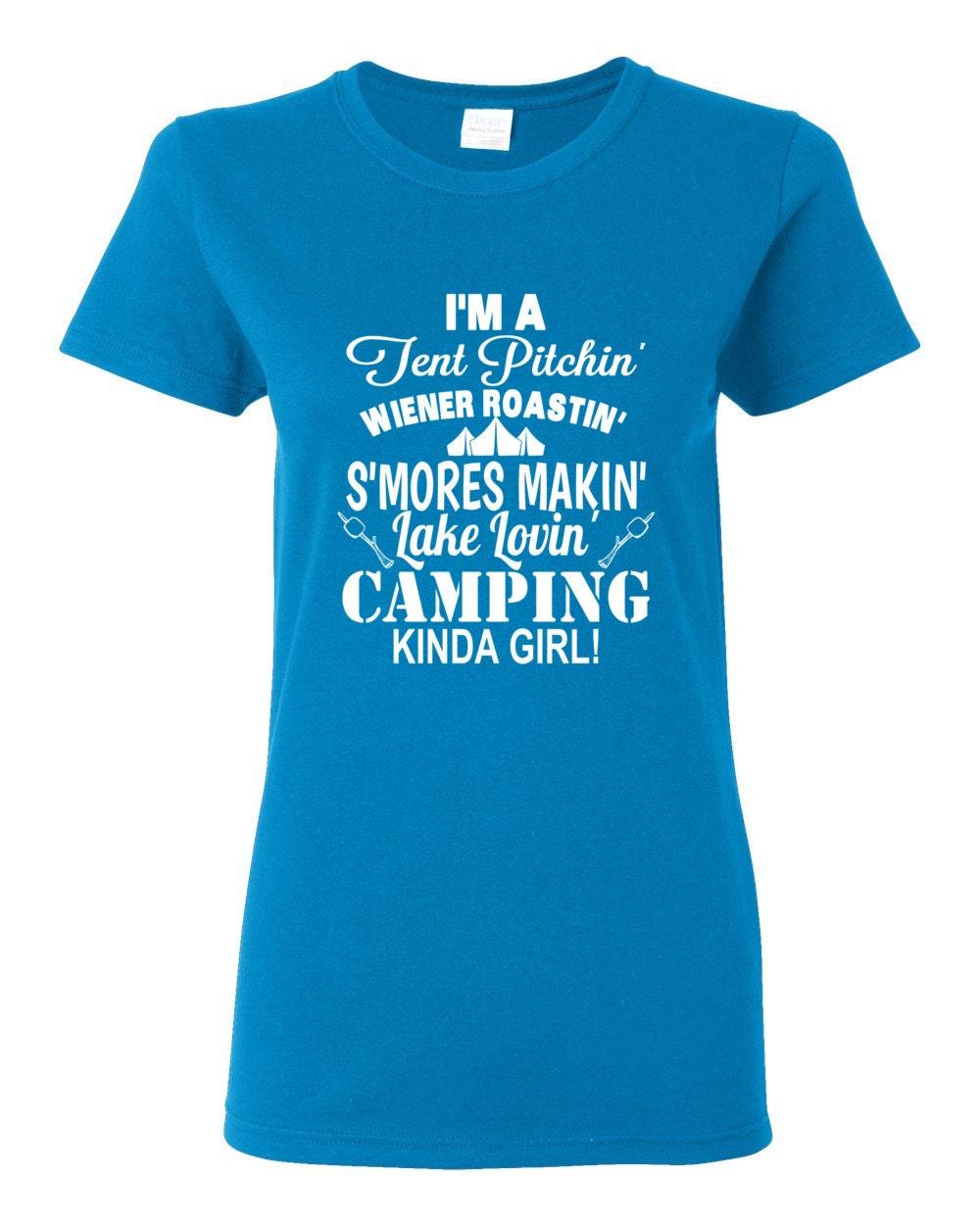Camping T-shirt - Camping Kinda Girl Womens T-shirt