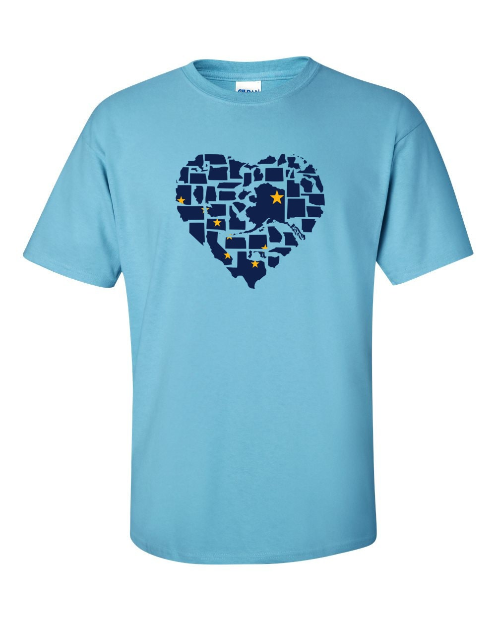 Alaska T-shirt - No Matter Where I Am, Alaska Is Alway In My Heart - My State Alaska T-shirt