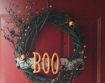 Boo Halloween Wreath