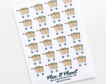 Grocery Cart Shopping Planner Stickers