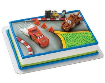Cars 2 World Grand Prix Cake Topper Decoration Set