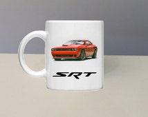 Challenger Hellcat Coffee Mug By GlazedImage - Great Gift! Garage, Shop, Mechanic!
