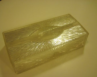 Vintage Lucite Tissue Kleenex Holder Celebrity, Inc. Made in USA.